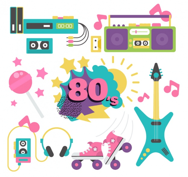 Free 80s Graphics to Revive the Good Old Days in 2018