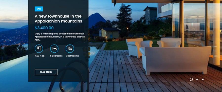 UI Web Design for Real Estate Websites