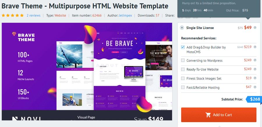 MotoCMS Drag-and-Drop Website Builder HTML5 theme