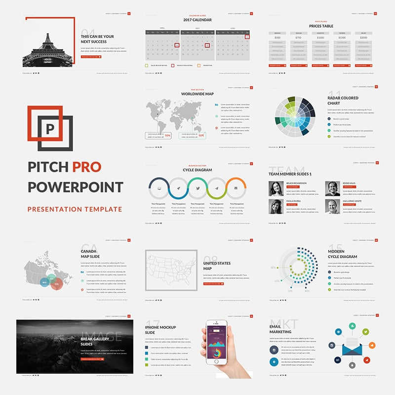 Powerful Powerpoint Templates Free: A Free PowerPoint Template For Business