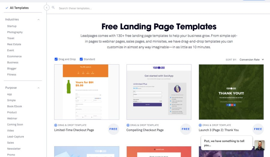 leadpages assortment