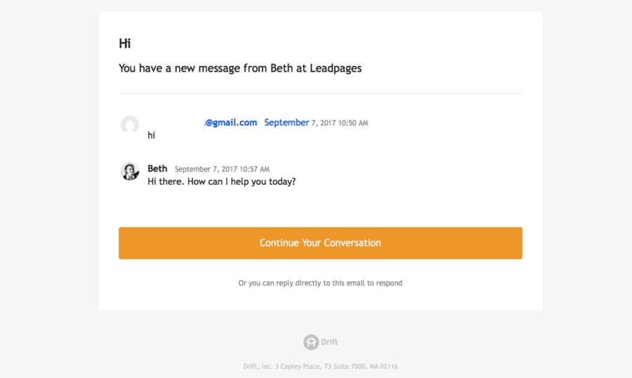 leadpages online chat