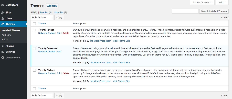wordpress multisite themes