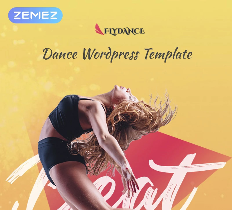 Flydance - Dance Classes Elementor WordPress Theme