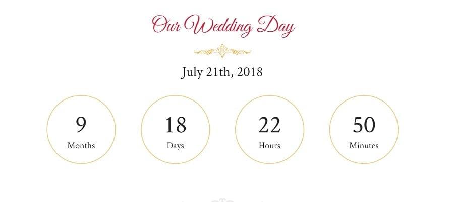 wedding counter image