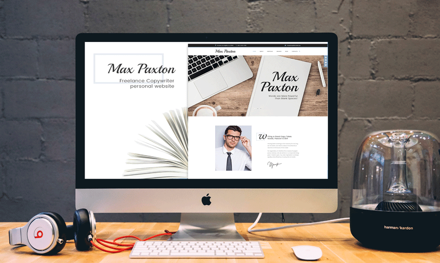 Max Paxton Lite - Copywriter Personal Website Free WordPress Theme
