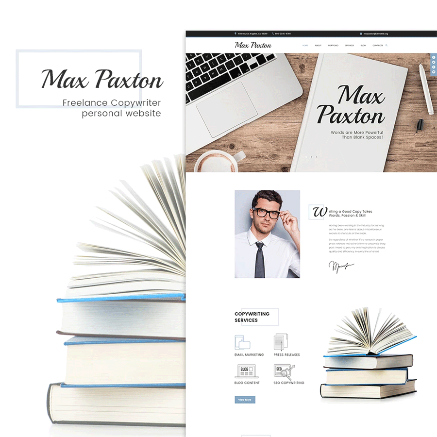 Free Portfolio WordPress Themes Collection Joined by Max