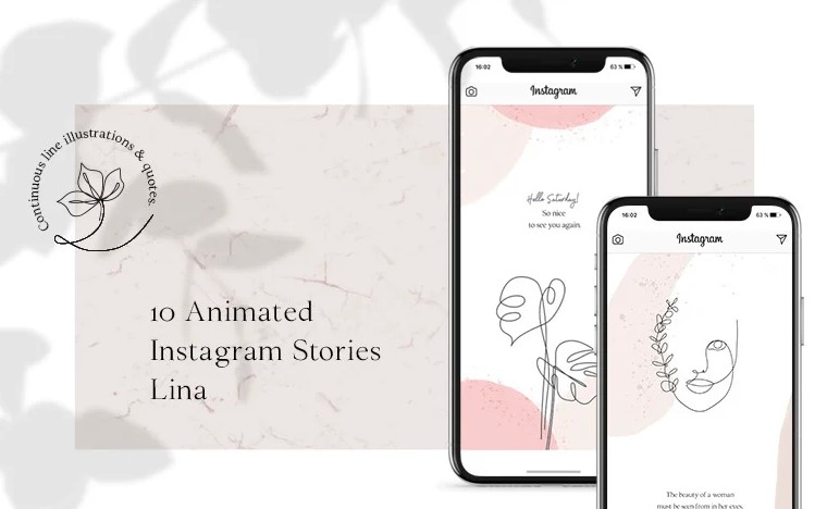 animated instagram template lina