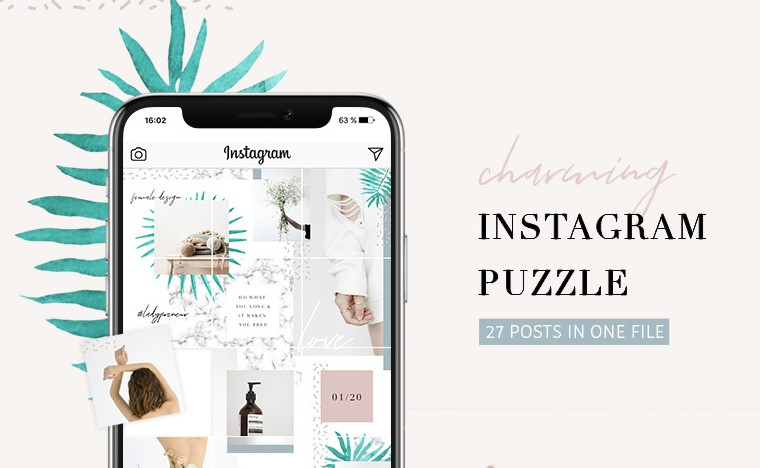 charming instagram template