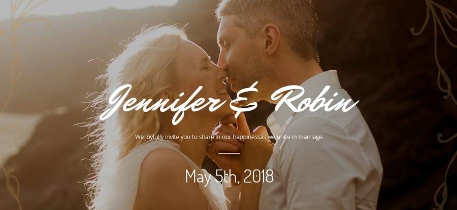 online wedding invitation image
