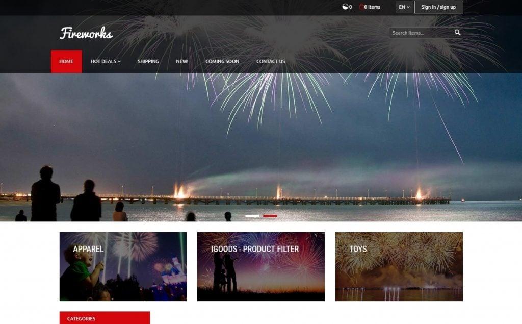Fireworks X-Cart Template