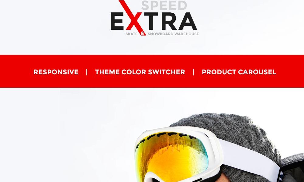 Extra Speed – Snowboarding Responsive OpenCart Template