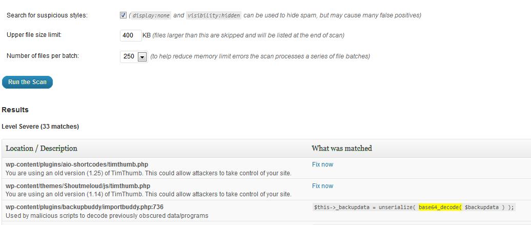 Scanning Your WordPress Website For Malware