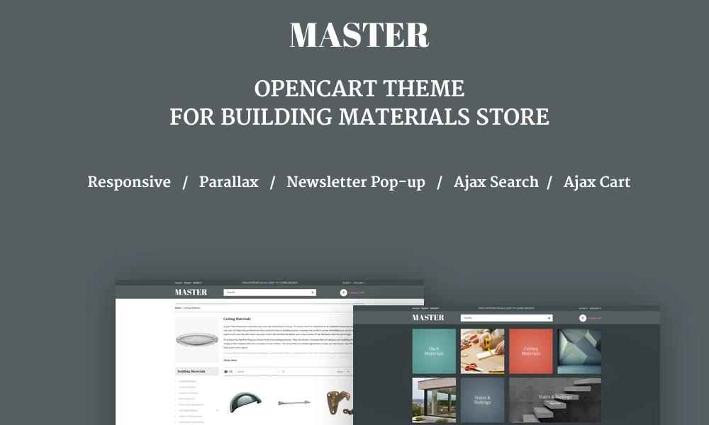 Master – Building Materials Responsive OpenCart Template