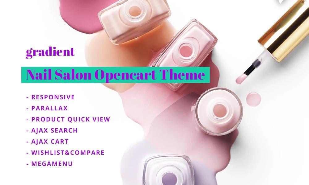 Gradient – Cosmetics Store Responsive OpenCart Template.