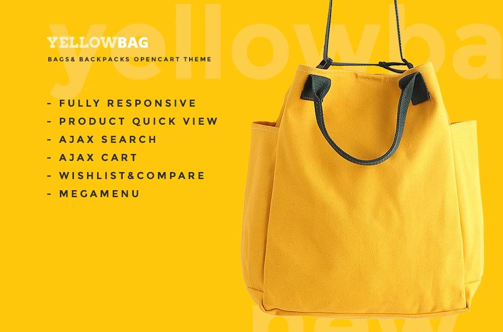 YellowBag – Handbag Responsive OpenCart Template