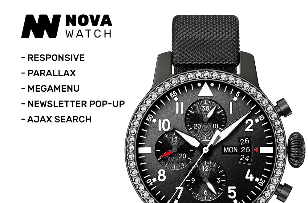 Nova Watch – Watches Responsive OpenCart Template