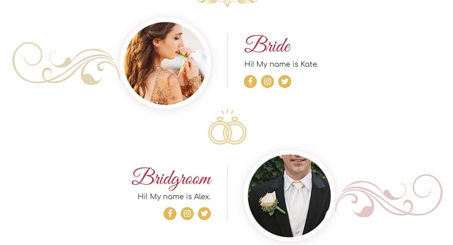Introduce yourself wedding invitation picture