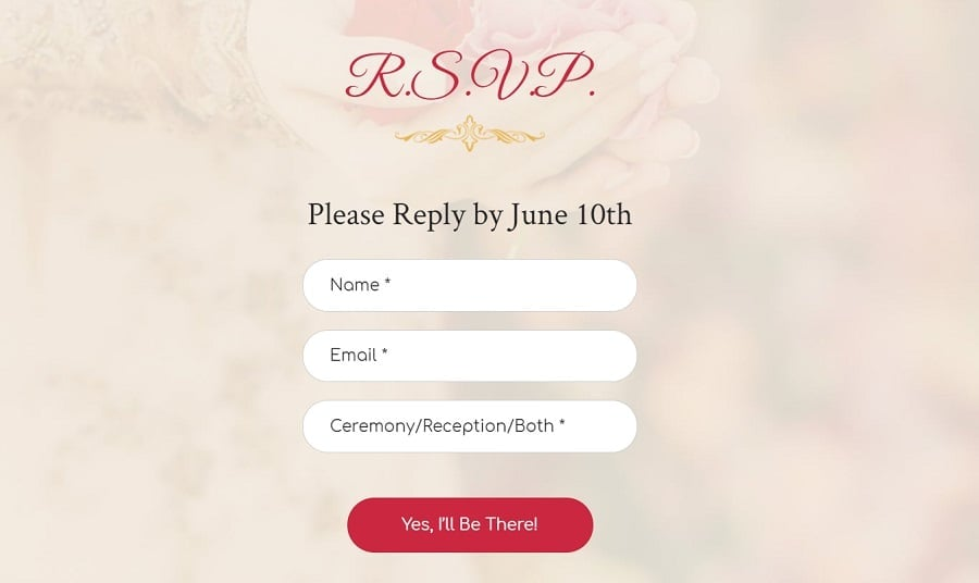 wedding rsvp design image