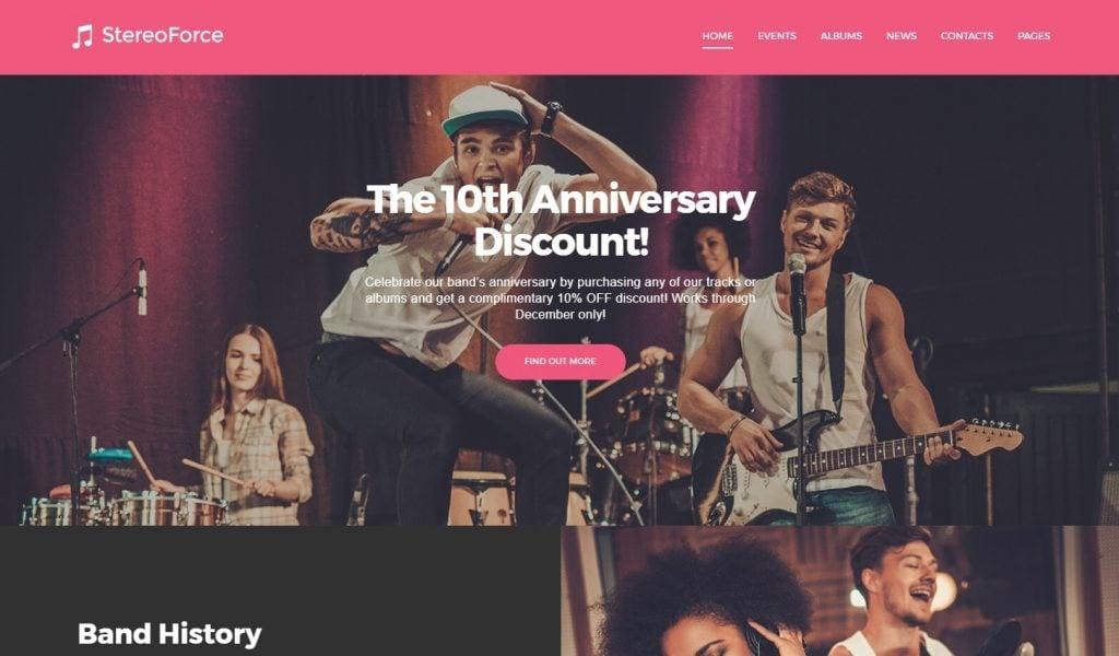 Band Promotion WordPress Theme
