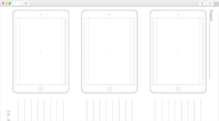 Dribbble   iPad Air Sketching Templates