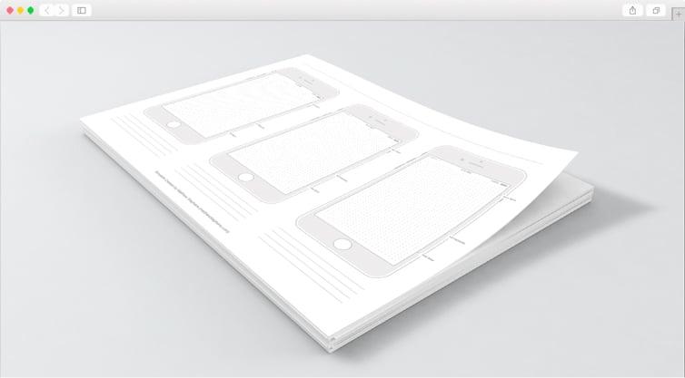 Dribbble | Free Printable iPhone 7 Templates (iOS 10)