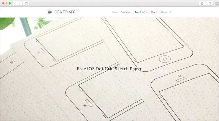 IdeaToApp | Free iOS Dot Grid Sketch Paper