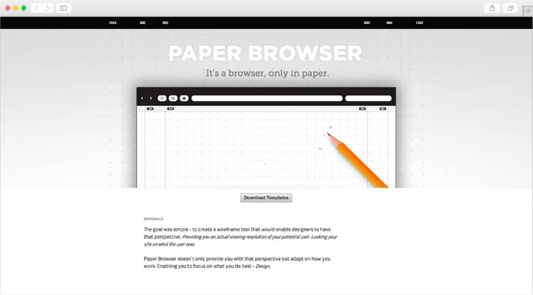 Paper Browser   It's a browser, only in paper