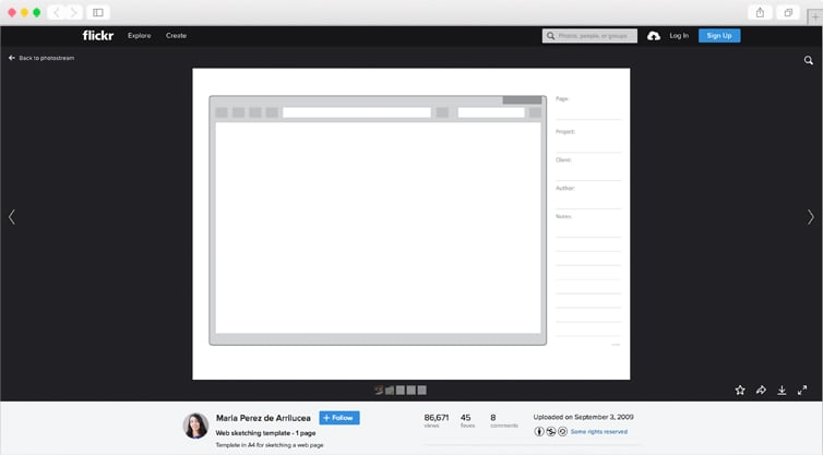 Web Sketching Template | Single Page