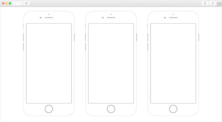 Dribbble | iPhone 6 Printable Wireframes