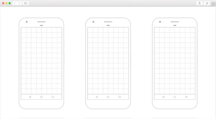 Dribbble   Free Printable Google Pixel Template