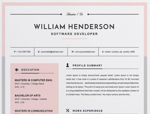 30 Jaw Dropping Microsoft Word Cv Templates Free And Premium