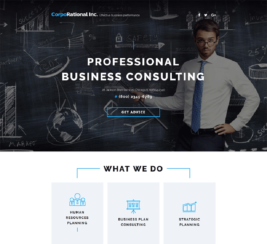 Consulting Landing Page Template