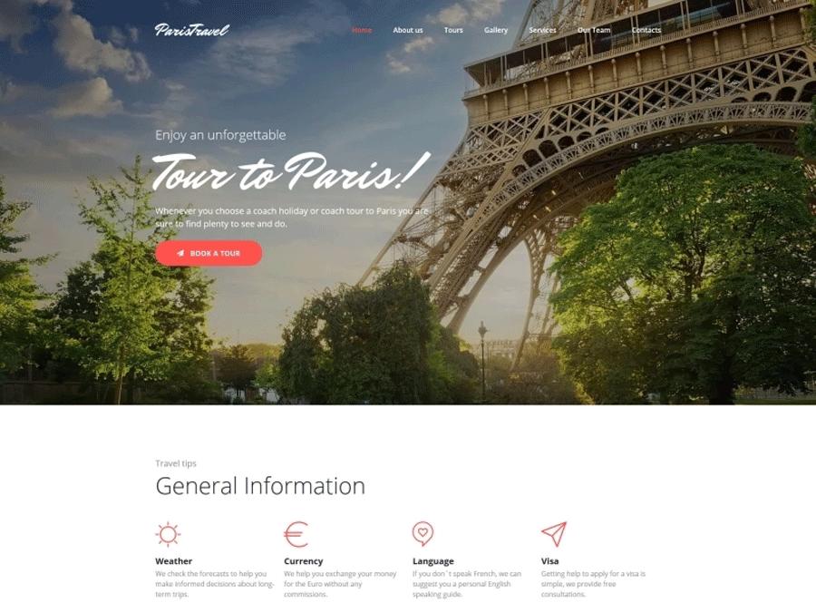 Travel Agency Premium MotoCMS 3 Template