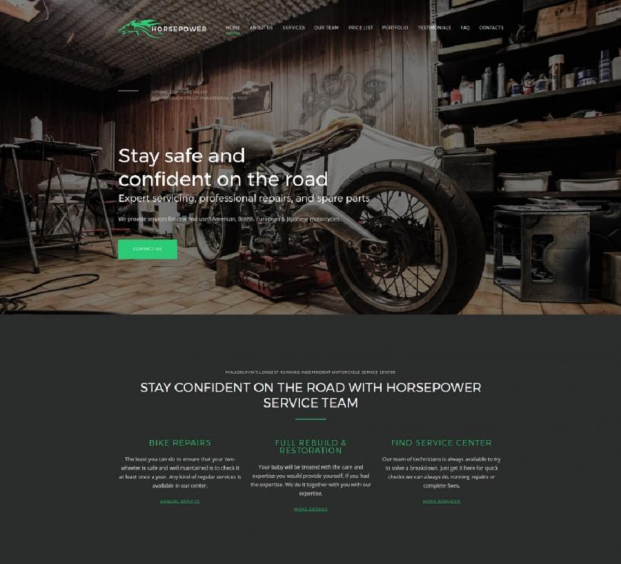 Motorcycle Repairs Premium MotoCMS 3 Template
