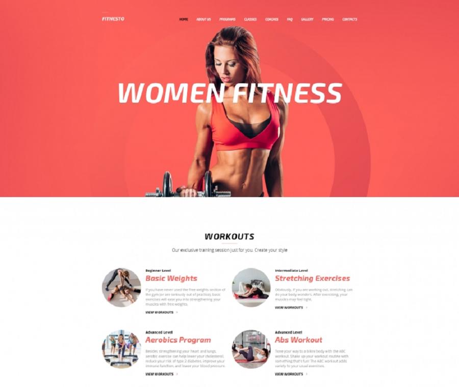 Fitness Premium MotoCMS 3 Template