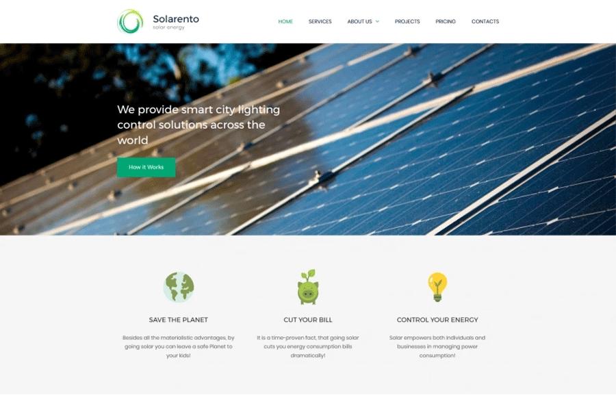 Solar Energy Premium MotoCMS 3 Template