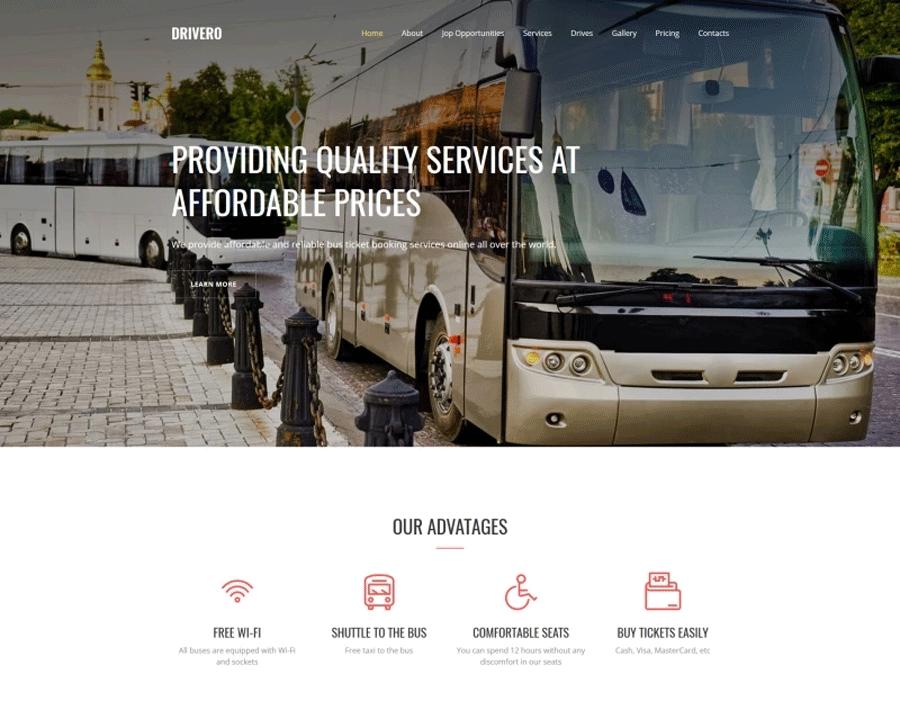 Transportation Premium MotoCMS 3 Template