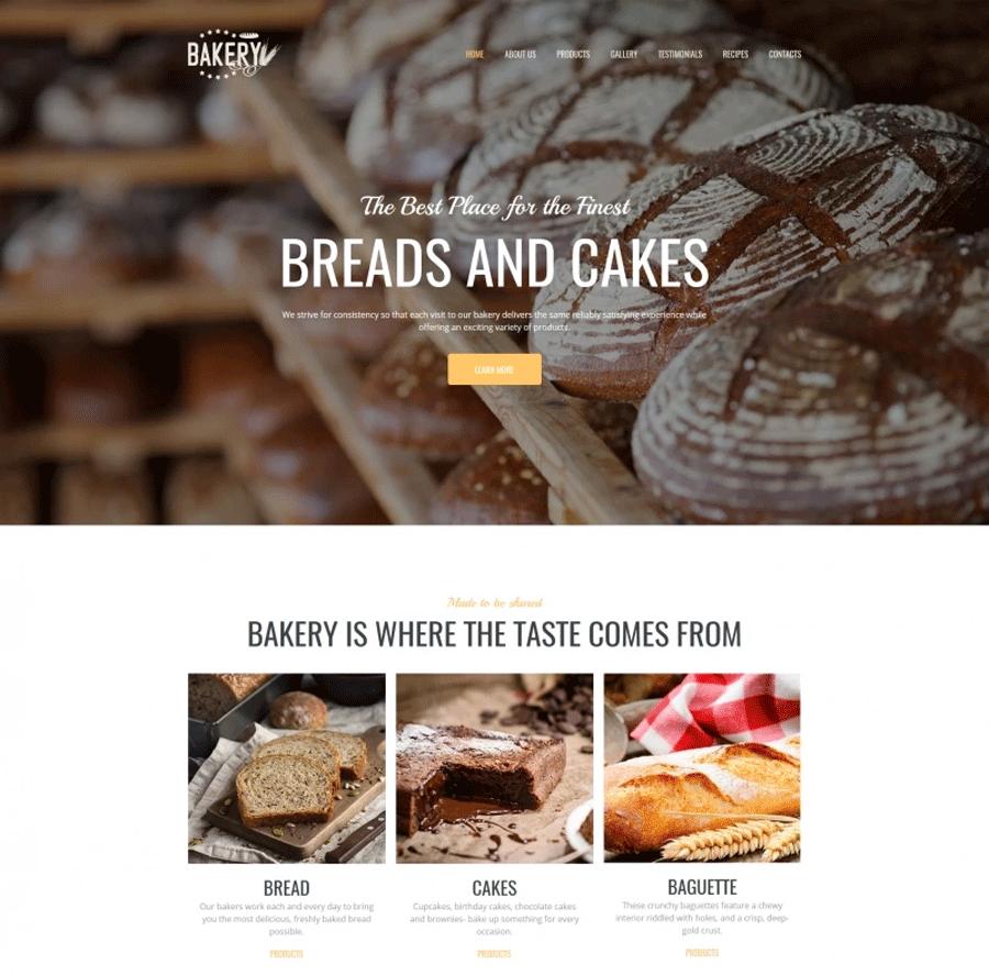 Bakery Premium MotoCMS 3 Template