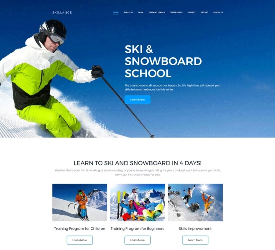 Ski Premium MotoCMS 3 Template