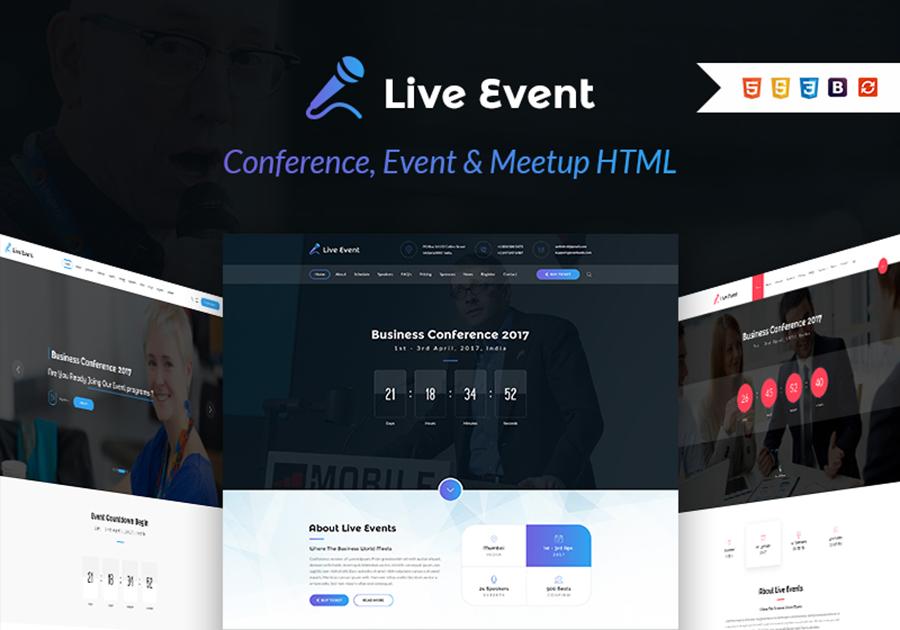 Meetup HTML Template