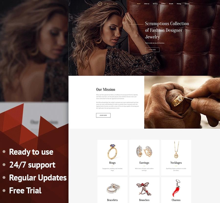 Jewelry Premium MotoCMS 3 Template