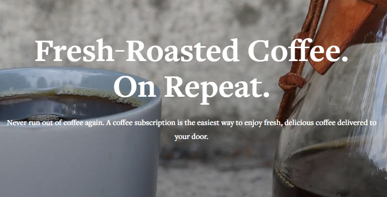 Counter Culture Coffee Subscription