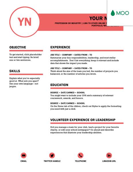 Microsoft Word CV Templates