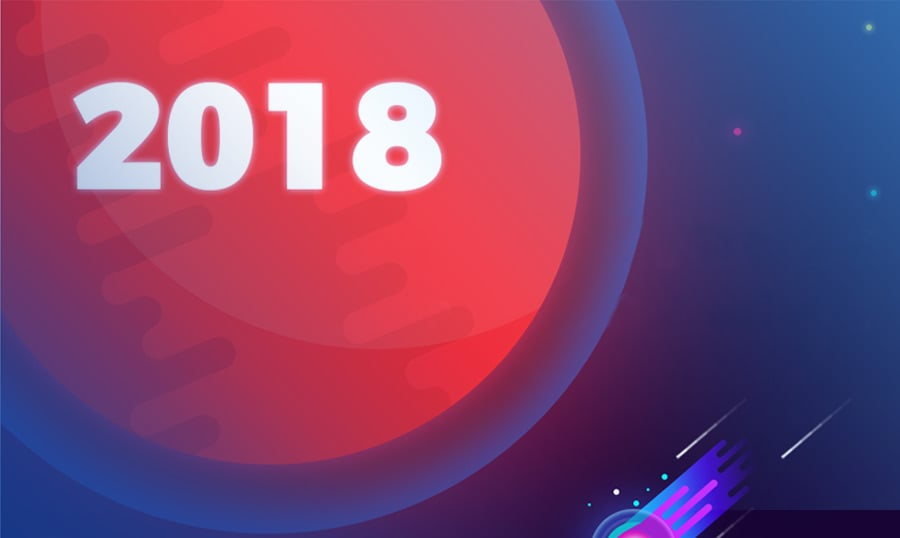 (English) Space Odyssey to Web Design Trends 2018 [Infographics]