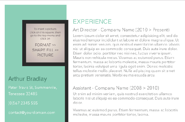 Artistic Jobseeker Free resume Template