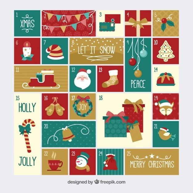 Nice hand drawn advent calendar