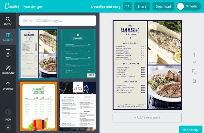 Free Menu Design Templates | Free And Modern Restaurant Menu Design Templates