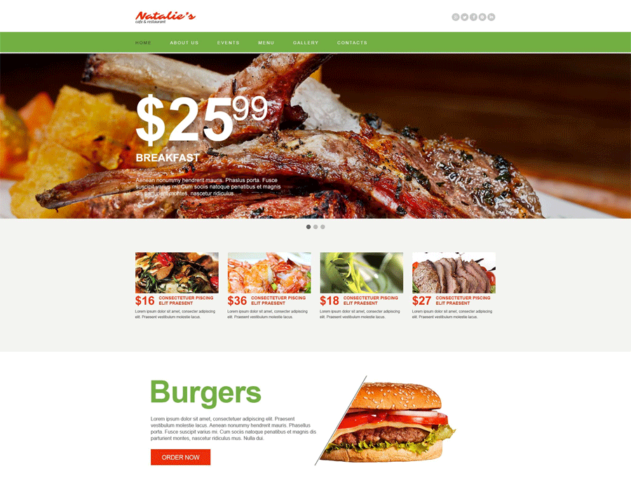 Restaurant Muse Template