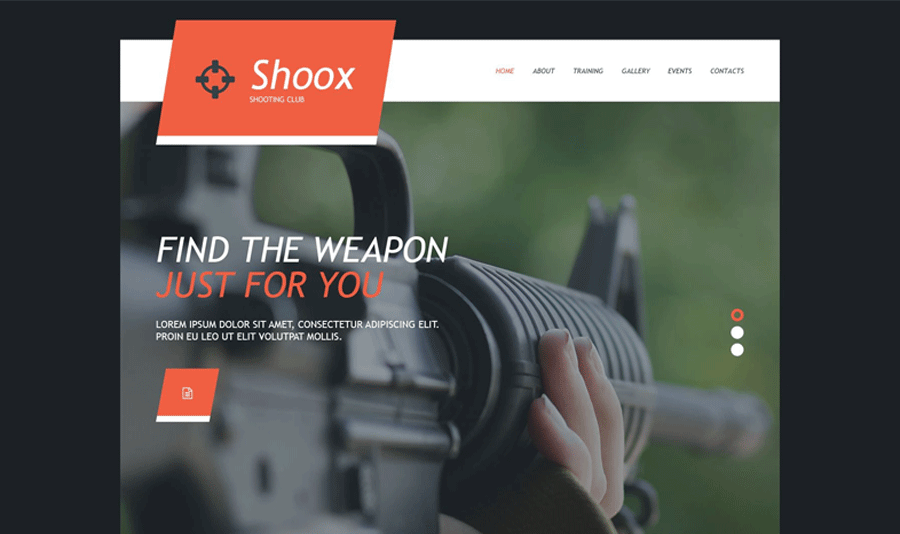 Weapons Store Muse Template
